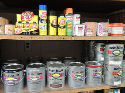 Rustoleum paint stocked by the gallon