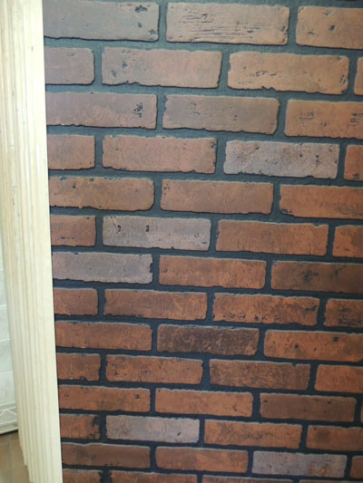 picture of paneling with brick finish